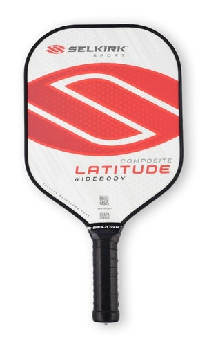 Selkirk Latitude widebody polymer composite pickleball paddle Red Force
