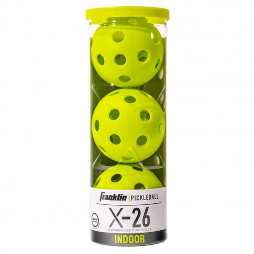 Franklin Sports X-26 3-Pack Indoor Pickleball Optic gulgrön SM-bollen 2020