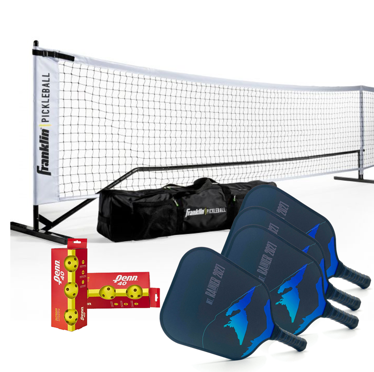 Startpaket Franklin Sports Nät + 4 st Mt. Rainier rack