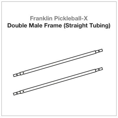Franklin Pickleball-X Double Male Frame (Straight Tubing) 2 PAC