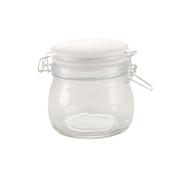 Glasburk med snäpplock i porslin 500 ml