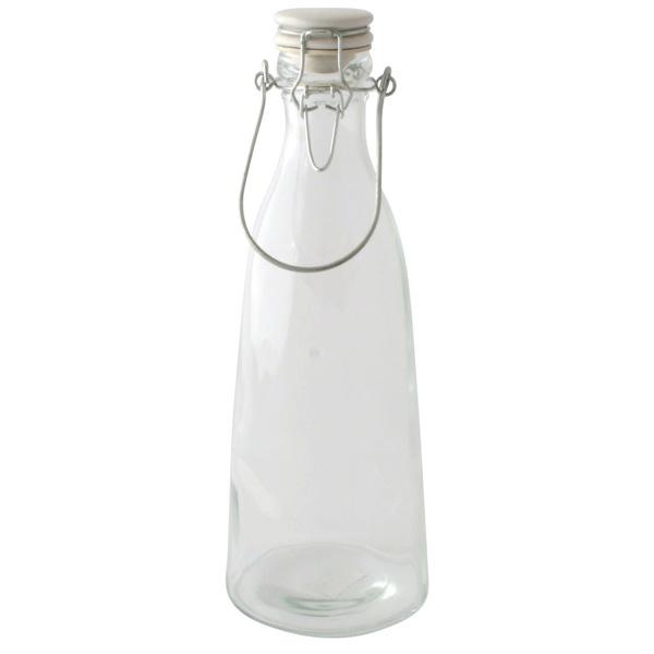 Glasflaska konformad med patentkork 1L