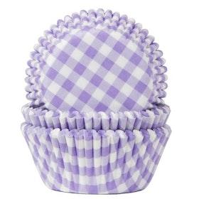 Muffinsformar Rutiga Ljuslila