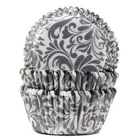 Muffinsformar Mönstrade i Vitt och Silver