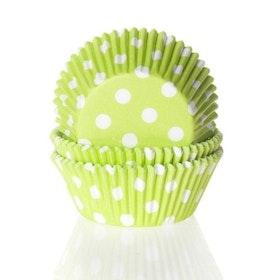 Muffinsformar Limegröna med Prickar