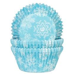 Muffinsformar Snöflingor Blå