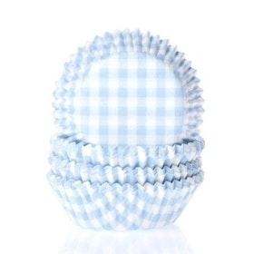Minimuffinsformar Rutiga Ljusblå