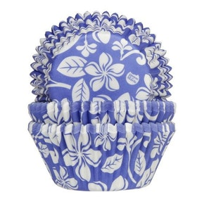 Muffinsformar blå med blommor