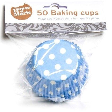 Muffinsformar Blå med Prickar