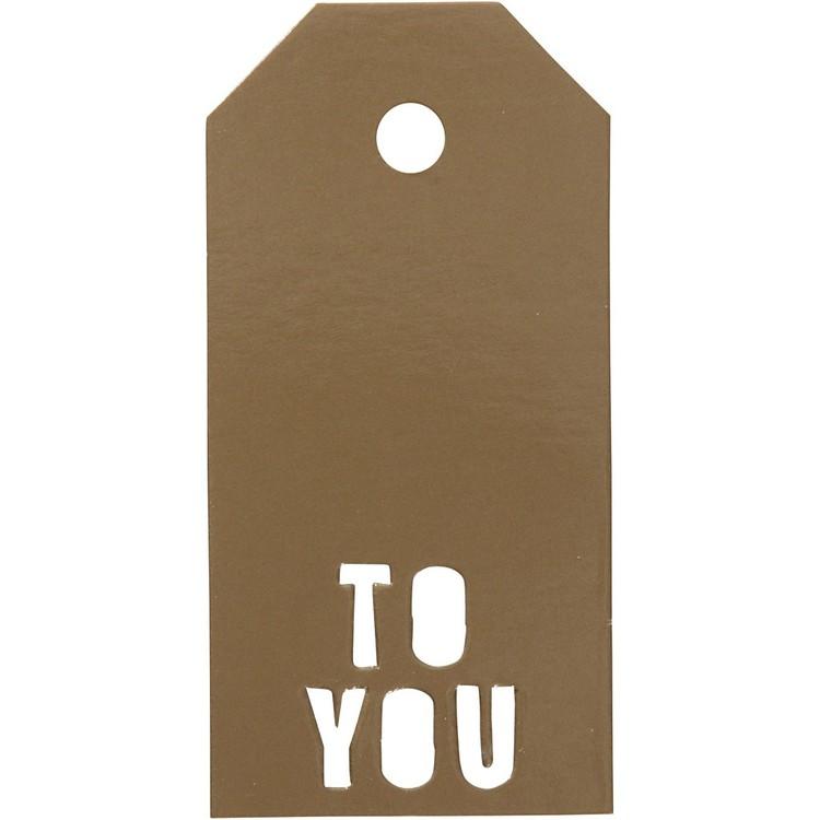 Manillamärken 5x10cm TO YOU Guld