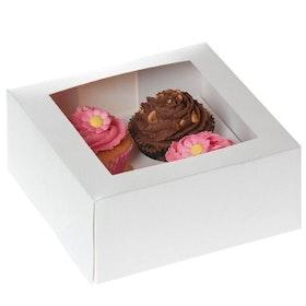 Cupcake Kartong Vit 2 st