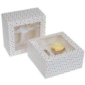 Cupcake Kartong Konfetti 2 st