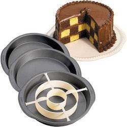 Wilton Bakform Schackrutig Tårta set 4 delar