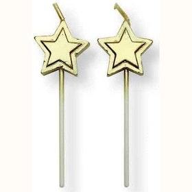 Tårtljus Guldstjärnor 8 st