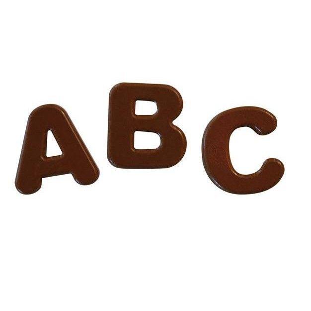 Chokladform i Silikon Bokstäver