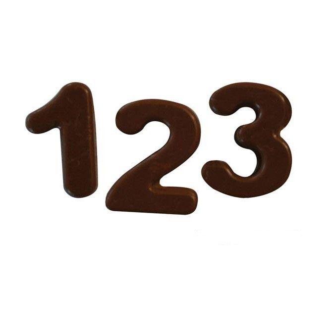 Chokladform i Silikon Siffror