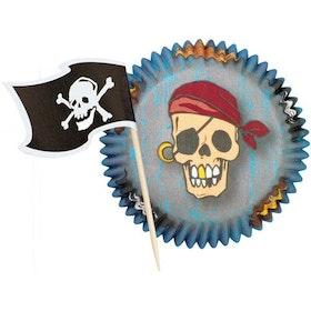 Muffinsformar Pirat + Piratflaggor