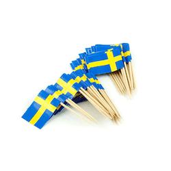 Party Picks Sverigeflaggor 50-pack