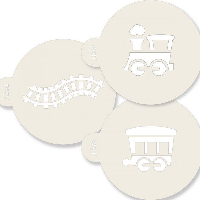 Schabloner Tåg 3 st olika