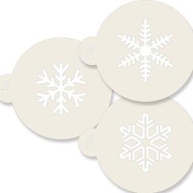 Schabloner Snöflingor 3 st olika
