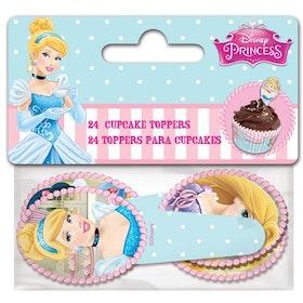 Cupcake Toppers Prinsessor Disney
