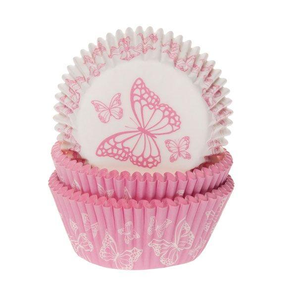 Muffinsformar Rosa Fjärilar Blandade