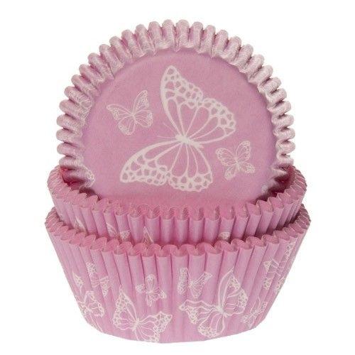 Muffinsformar Fjärilar Rosa