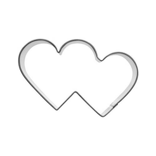Pepparkaksform Två Hjärtan