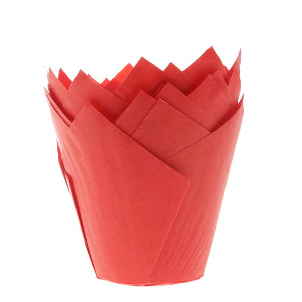 Muffinsformar Tulip Röd