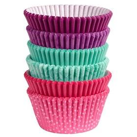 Muffinsformar Storpack Rosa, Lila, Turkos 150 st