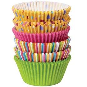 Muffinsformar Storpack Prickar och Ränder 150 st