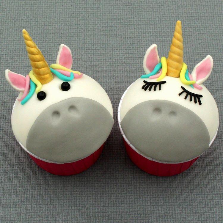 Silikonform Unicorn Cupcakes - Öron, Horn och Ögonfransar