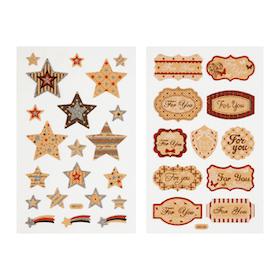 Etiketter For You och Stickers Stjärnor