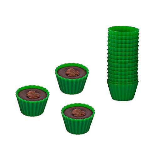 Knäckformar i Silikon 40-pack Gröna
