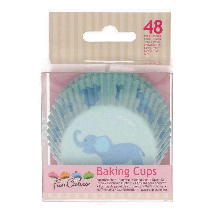 Muffinsformar Baby Elefant Blå