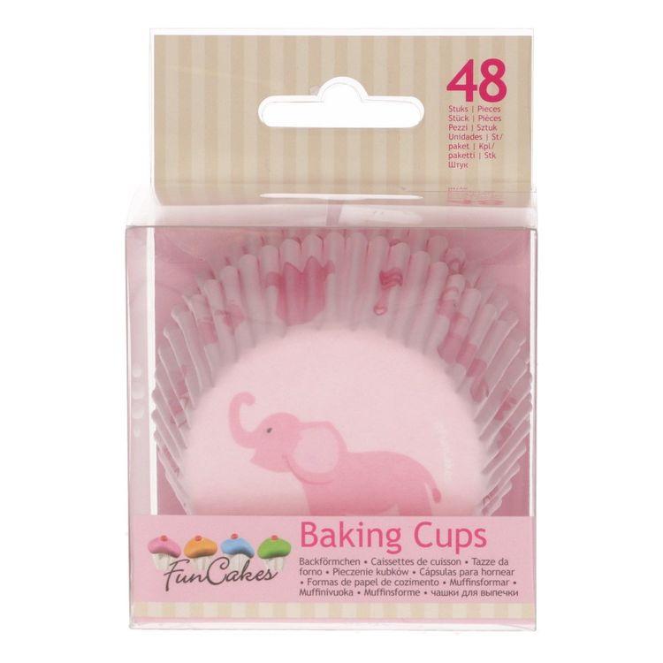 Muffinsformar Baby Elefant Rosa