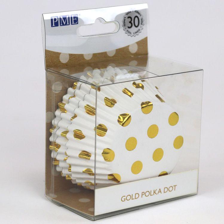 Muffinsformar Prickiga Guld