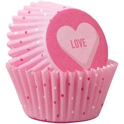 Minimuffinsformar Love med Hjärtan