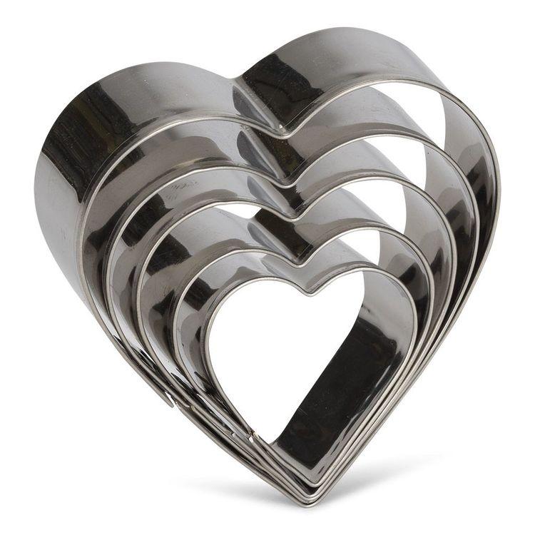 Utstickare Hjärta set 5 st