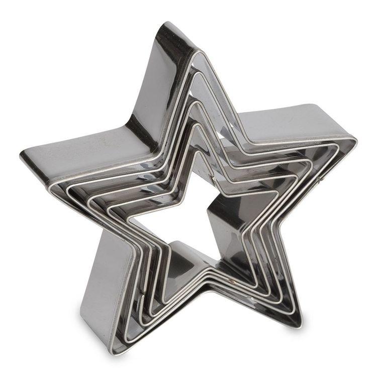 Utstickare Stjärna set 5 st