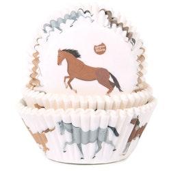 Muffinsformar Hästar