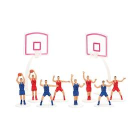 Tårtdekorationer Basketkorgar och Basketspelare set 10 st