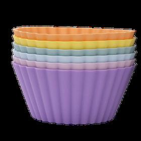 Stora Muffinsformar i Silikon 6-pack Pastell