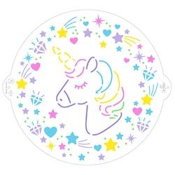 Schablon Unicorn 25 cm