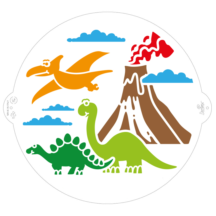 Schablon Dinosaurier 25 cm