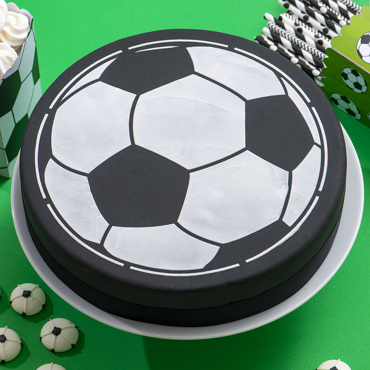 Schablon Fotboll 25 cm