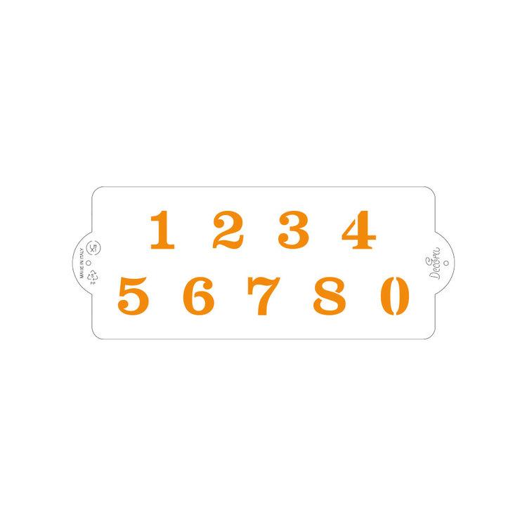 Schablon Siffror 10 x 25 cm