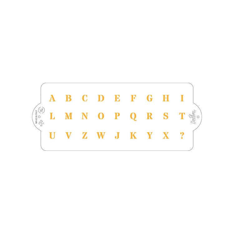 Schablon Alfabete 10 x 25 cm