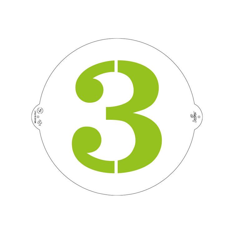 Schablon 3:a 25 cm