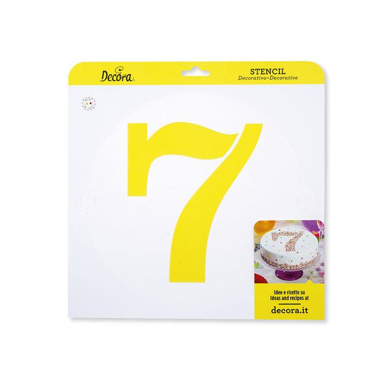 Schablon 7:a 25 cm